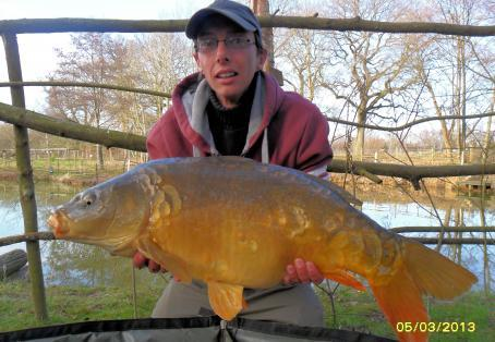 "Mirror carp: ""Ruby"" My new PB"