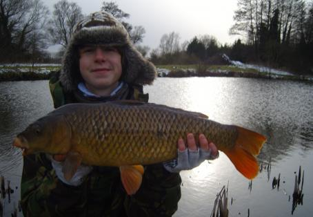 Common carp: Frozen fishing