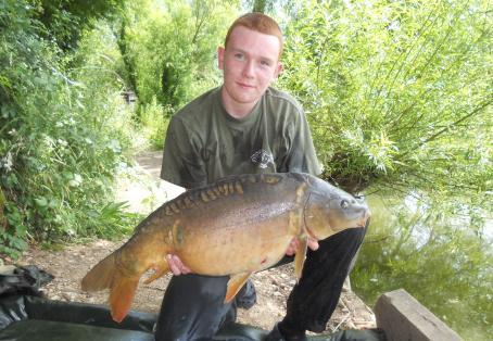 Mirror carp: First stalked surface fish 3 ft from the bank