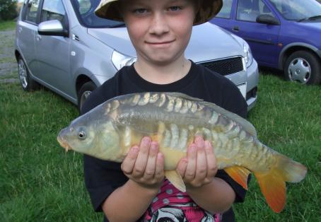 Common carp: Jake's first fishing trip with grandad