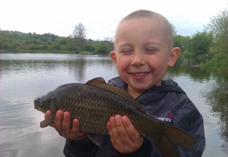 Common carp: my son first common