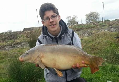 Mirror carp: 14lb mirror off the top in winter