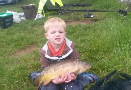 Mirror: my boy's first carp