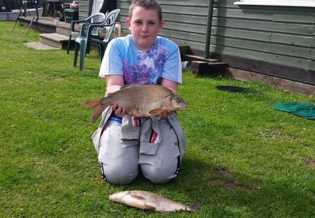 Bream: Ethan with 2 big bream