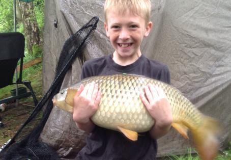 Common carp: My son