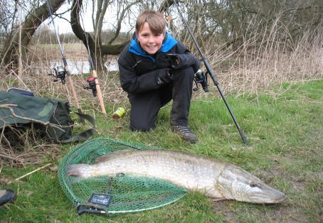 Pike: Sam Annear (10) with Pike 21 lb 4oz. Caught 18/02/2015