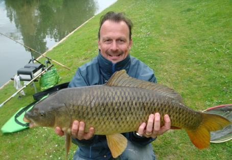 Common carp: First common of the year on quiver/feeder