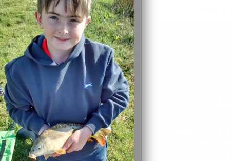 Common carp: First of 15 fish caught on first trip to fishing lake.