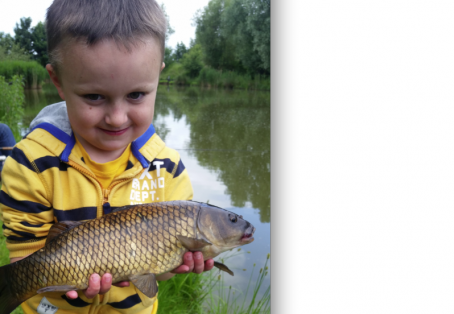 Common carp: 6yr old kick dads butt