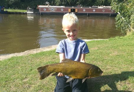 Tench: My first ever tench on the canal!